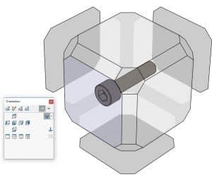 SolidWorks-space-orientation, pikanäppäimet