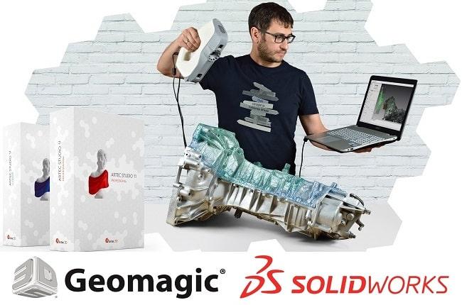 Artec Studio, Geomagic, SolidWorks, DesignX, ControlX, hinta