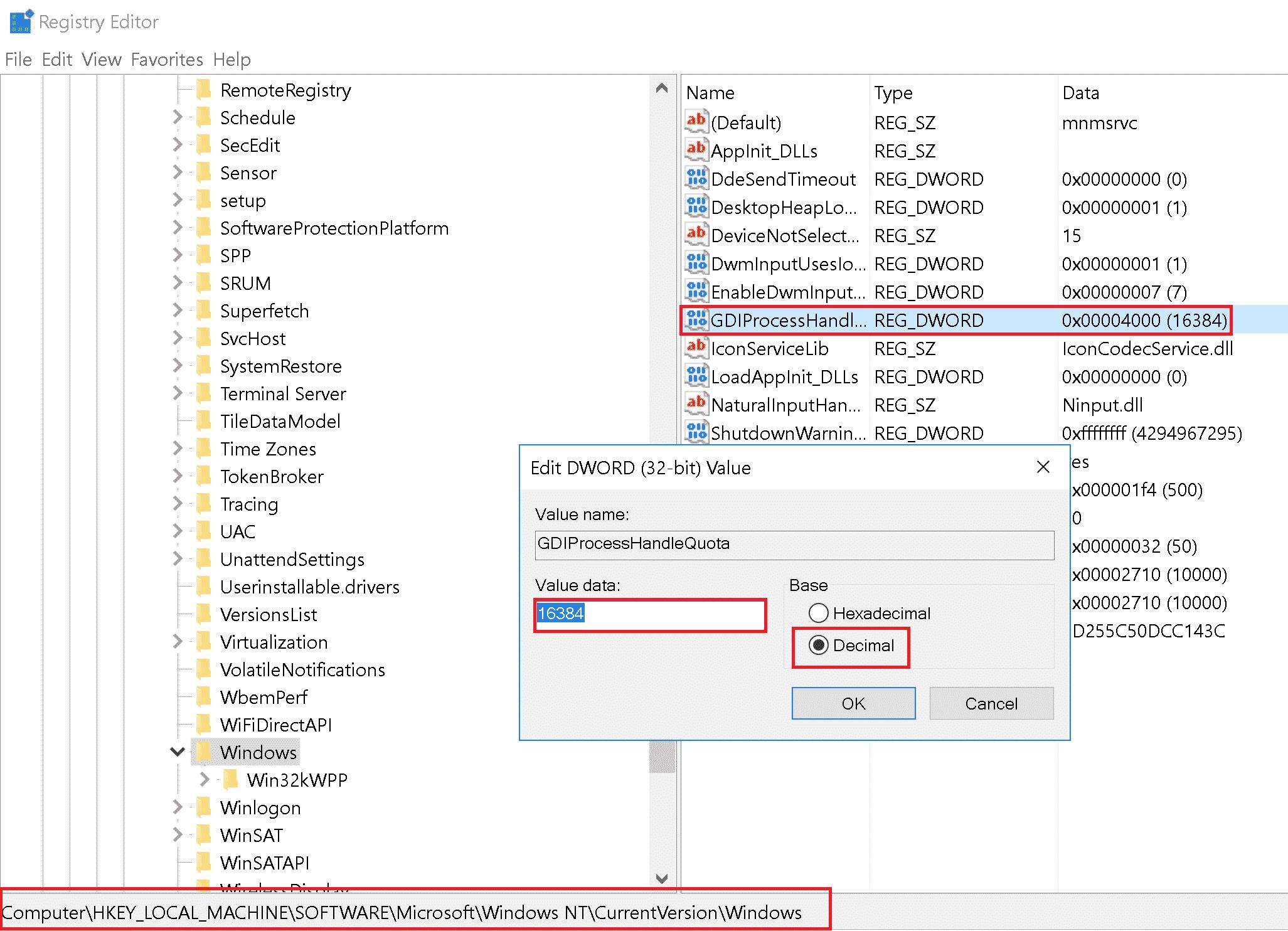 Windowsin rekisterin muokkaus