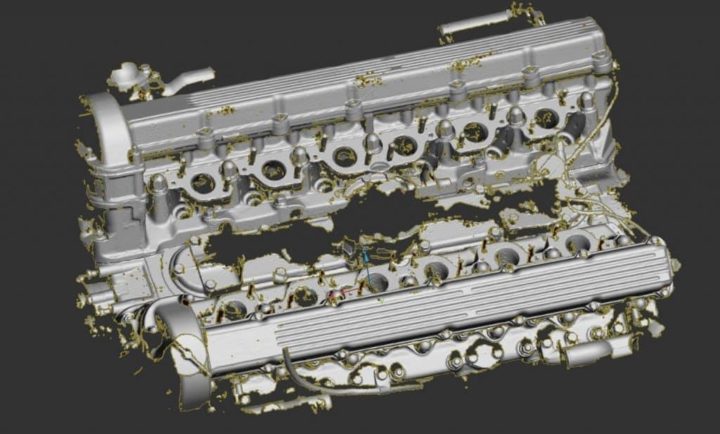 Artec, Space Spider, 3D-skanneri, 3D-skannaus, hinta, moottorin 3D-skannaus