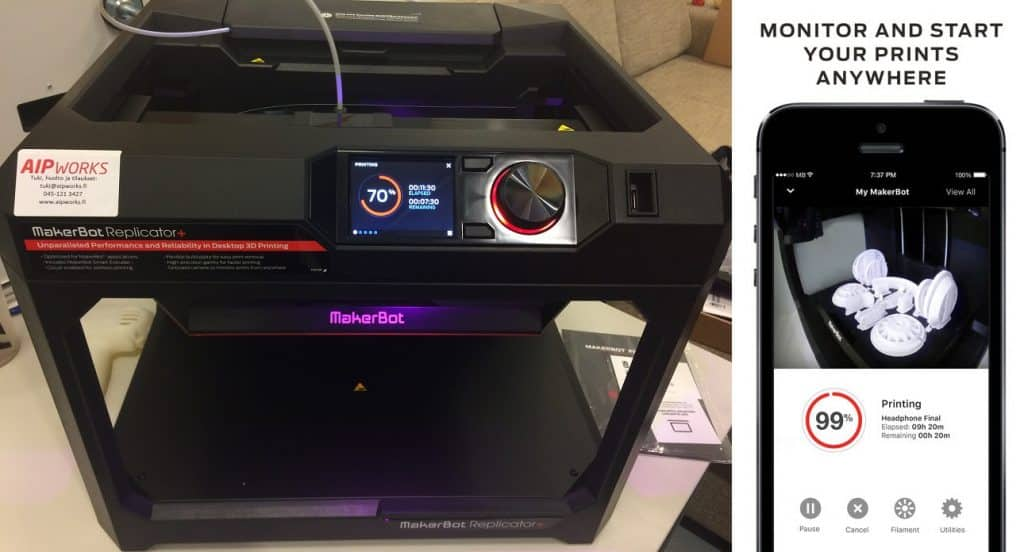 MakerBot Replicator 3D-tulostin, Replicator+, hinta, makerbot hinta,