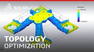 SolidWorks simulation, topology, optimointi