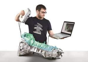 Artec eva, 3D-skanneri. Gearbox-Grid