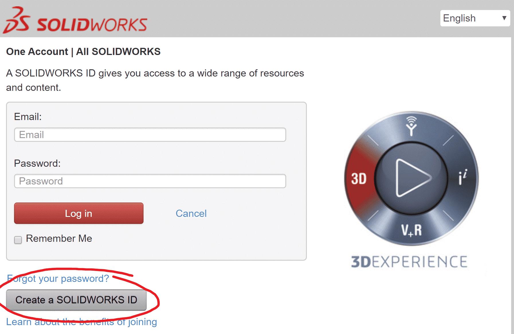SolidWorks ID, tili, tukipalvelu, solidworks asennus