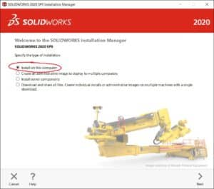 SolidWorks asennus, lataaminen, installation manager